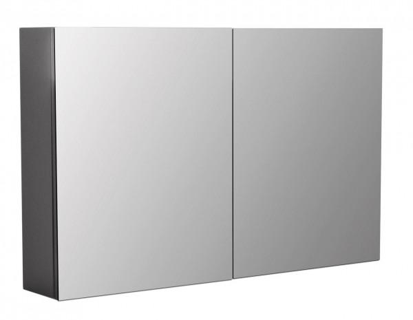 Bad Spiegelschrank 100 cm anthrazit Seidenglanz mit Soft-Close Schraniren