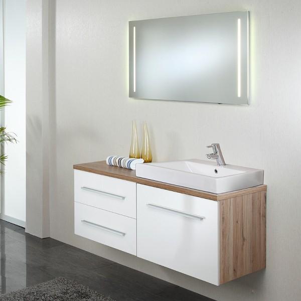 Badezimmer Set mit Spiegelschrank 100 cm