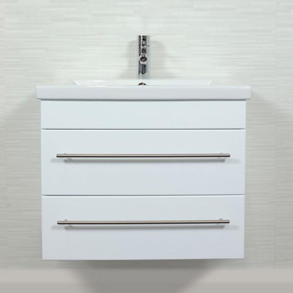 Badezimmer Unterschrank Duravit 2nd Floor 70 cm Hochglanz weiß