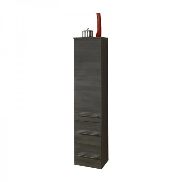 Bad Hochschrank schwarz graphit Struktur 138 hoch