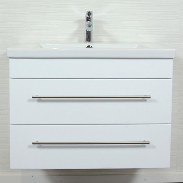 Waschtisch Unterschrank für Duravit 2nd Floor Waschbecken 80 cm weiss
