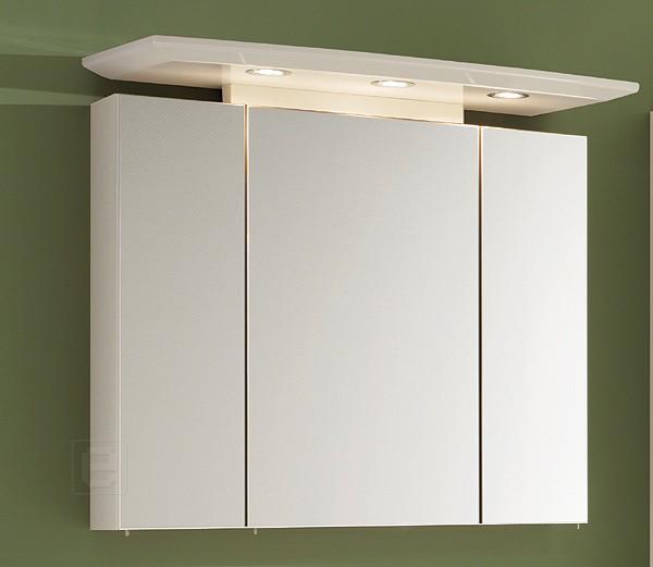 Spiegelschrank 80 cm Hochglanz weiß