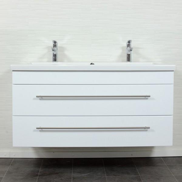 Unterschrank Duravit 2nd Floor Doppelwaschtisch 120 cm weiß Hochglanz
