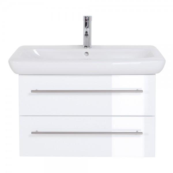 Unterschrank für Keramag It Waschbecken 80 cm Hochglanz weiß