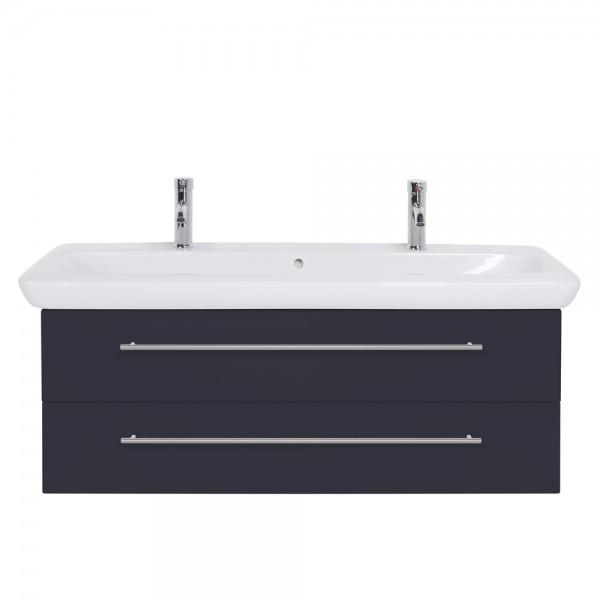 Unterschrank für Doppelwaschtisch Keramag IT Waschbecken 130 cm anthrazit Seidenglanz