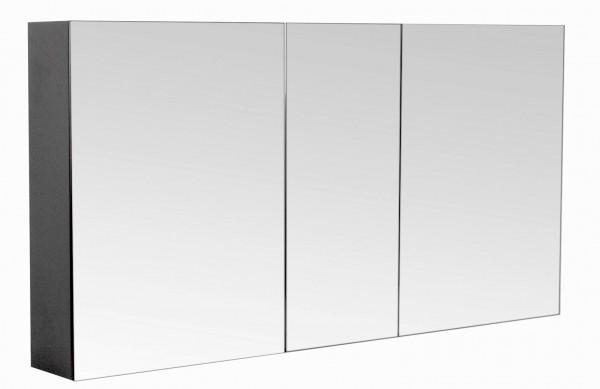 Bad Spiegelschrank 120 cm anthrazit Seidenglanz mit Soft Close Türdämpfung