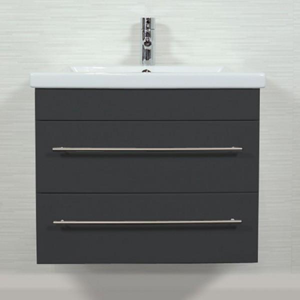Duravit 2nd Floor Waschtischunterschrank 70 cm anthrazit Seidenglanz