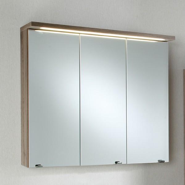 Spiegelschrank Badezimmer 80 cm Bordeaux Eiche