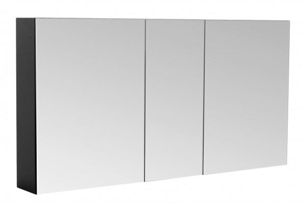 Bad Spiegelschrank 120 cm schwarz Seidenglanz