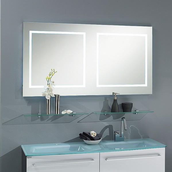Badspiegel 130 cm mit Alurahmen