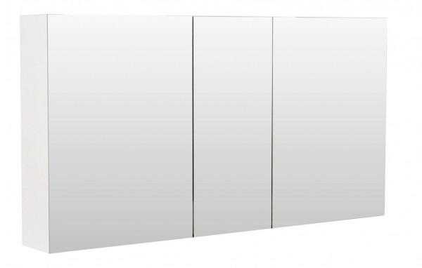 Bad Spiegelschrank 120 cm Hochglanz weiß