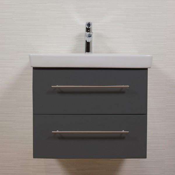 65 cm Waschtisch Unterschrank für Villeroy und Boch Subway 2.0 Waschbecken anthrazit